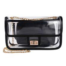 Women PVC Transparent Small Handbag Shoulder Bag Summer Beach Purse Crossbody Tote Handle Bags