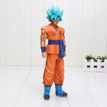 25 cm Dragon Ball Z Ressurreição F Deus Super Saiyajin Goku PVC action Figure toy Figura Bola Dragão(China)