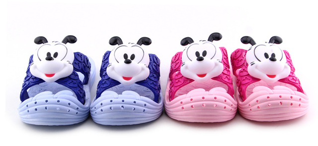 2016 summer new arrival 3D cartoon animation fashion children slippers skid resistance casual kids boy/girl beach shoes