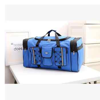 Durable New Multicolor Canvas Foldable Luggage Travel Bags Duffel Multifuctional Bag Large Capacity Men Women Travel Handbags