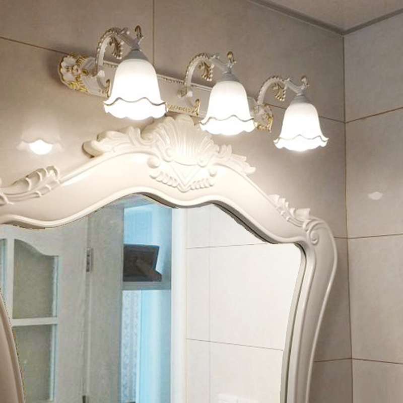 Antique LED mirror lamp wall lamp toilet bathroom cabinet antifog light LED retro makeup mirrorlamp fitting modeling wall sconce modern minimalist waterproof antifog aluminum acryl long led mirror light for bathroom cabinet aisle wall lamp 35 48 61cm 1134