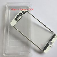 100pcs Best OEM Cold Press Outer Glass with Bezel Frame with oca For iphone 7 7 plus 8 8plus Glass+frame