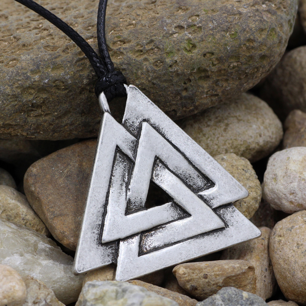 Us 3 26 49 Off Valknut Odin S Symbol Of Norse Viking Warriors Men S Pewter Pendant Necklace In Pendant Necklaces From Jewelry Accessories On