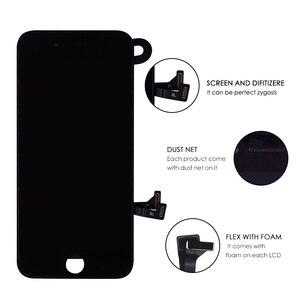 Image 2 - 10 pcs lot Completa Tela de Toque de Vidro Digitalizador & LCD Substituição Assembly Para o iphone 7 7g & Câmera Frontal frete grátis DHL