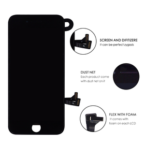 Image 2 - 10 pcs lot Complete Glass Touch Screen Digitizer & LCD Assembly Replacement For iPhone 7 7G & Front Camera Free DHL shipping
