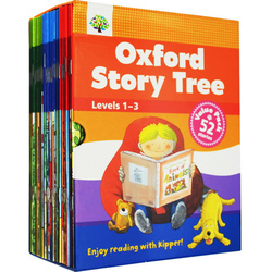 1 Набор 52 книг 1-3 уровня Oxford Story Tree для малышей, английская книга для чтения, история для детского сада, развивающие игрушки для детей