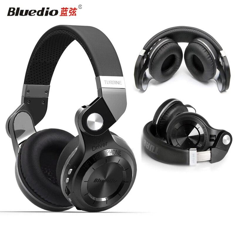 bilder für 100% original bluedio t2 plus t2 + kopfhörer drahtlose bluetooth 4,1 stereo kopfhörer faltbare dehnbar unterstützung tf karte fm