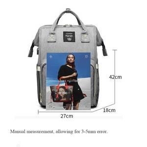 Image 5 - Lequeen usb ミイラ産科おむつバッグブランド大容量旅行バックパックデザイナー看護ベビーケア