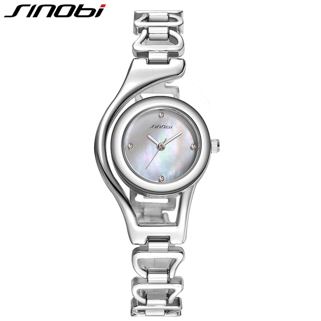 Rose Gold/ Silver Bracelet Quartz Stainless steel Women Wrist Watch 3