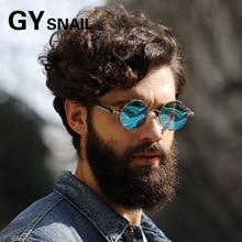 GY SNAIL Polarized Steampunk goggles Men women brand designer vintage mens Round sun Glasses for women sunglasses driving oculos
