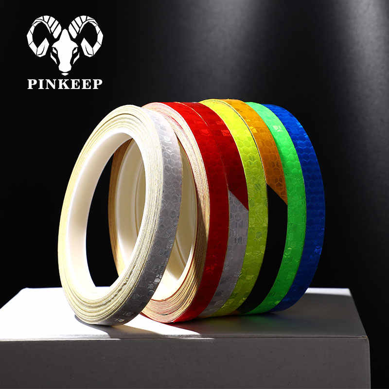 8M Auto Reflective Tape Reflective Stickers Strip Bicycle Sticker Waterproof Warning Stickers Car Adhesive Tape Bicycle Cycling