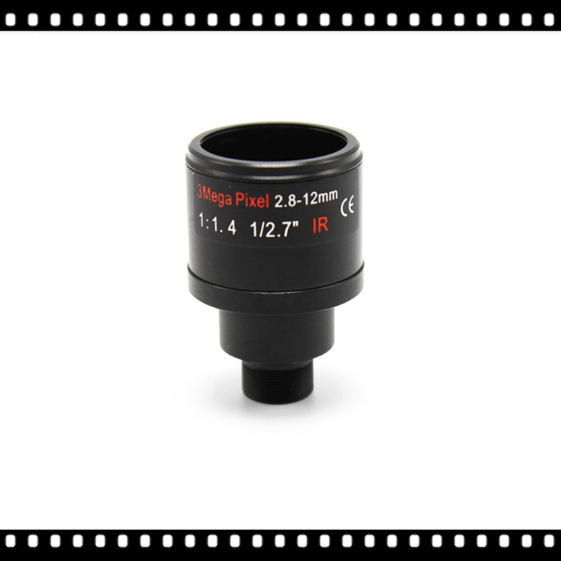3MP 2.8-12mm CCTV Lens For CCTV Camera Fixed Iris HD CCTV Camera Lens  Varifocal Lens Manual Zoom & Focus M12 F1.4 1/2.7