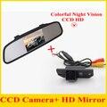 Парковочная система 4.3 Авто Зеркало монитор с Автомобиля Камера Заднего вида заднего вида CCD камера Для Ford/focus sedan/C-MAX Помочь
