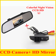 Parking system 4.3 Auto Mirror monitor with Car  Rear View Camera  rear form CCD camera case For Ford/focus sedan/C-MAX Assist