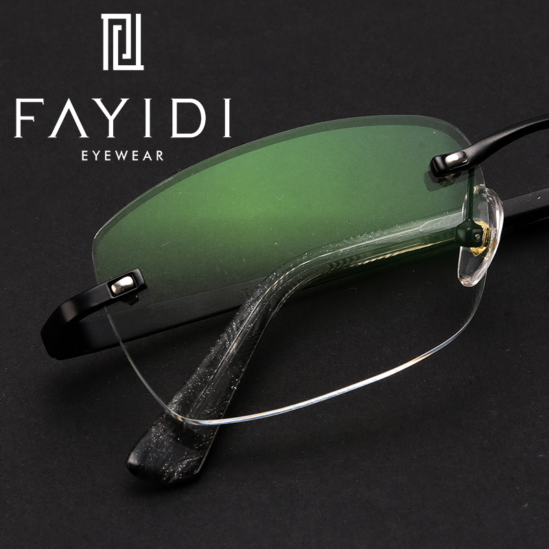 Alloy Prescription Rimless Eyewear Men Brand Designer Transparent Optical Computer Glasses #F105