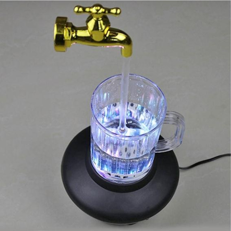 HZFCEW Novelty Multi Color Magic Tap Running Night Light Water Tap Faucet Lamp LED Cup Light Suspension Lights FR286