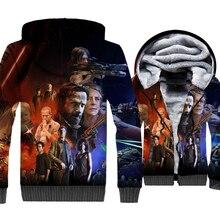 3D The Walking Dead Sweatshirt 2018 Winter Thick Mens Hoodies Streetwear Unisex Jackets Hip Hop Anime Hoodie Gothic Jacket Coat