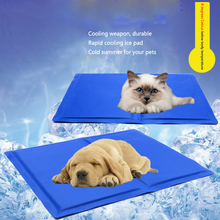 Pet Dog Beds Cooling Mat for Dogs Puppies Ice Pad Breathable Dog Sleeping Mat Pad Waterproof Dog Kennel Bed Non toxic Pet Mats цена