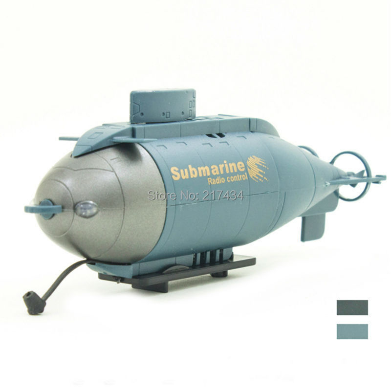 2015 Promotion 777-216 Mini 6CH Mini RC Sub Remote Control Submarine Toy Gift Blue