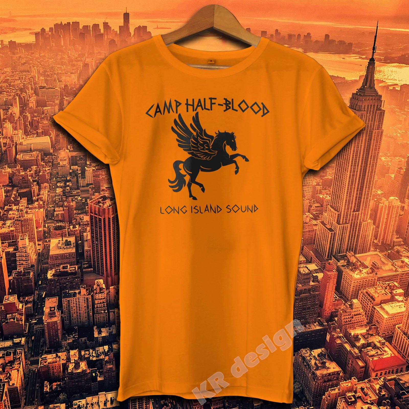 Camp Half Blood T-shirt Percy Jackson Movie Shirt Long Island Sound Greek Demi God Tee Shirt Heroes Of Olympus Shirt