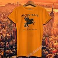 Camp Demi sang T-shirt Percy Jackson film chemise longue île son grec Demi dieu Tee Shirt héros de l'olympe chemise