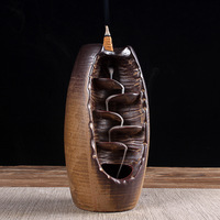 Car Accessories Ceramic Incense Holder Aromatherapy Waterfall Counterflow Accessory Auto Burner Gift