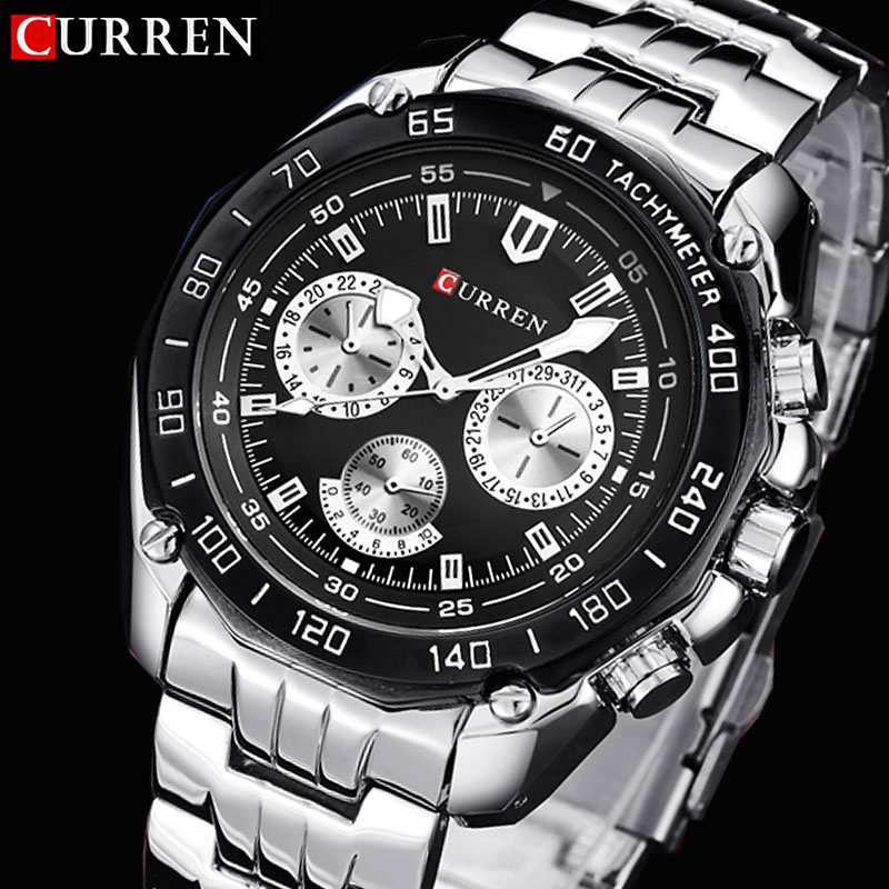 Curren Watches Men Quartzwatch Relogio Masculino Luxury Military Wristwatches Fashion Casual Water Resistant Army Sports Watch
