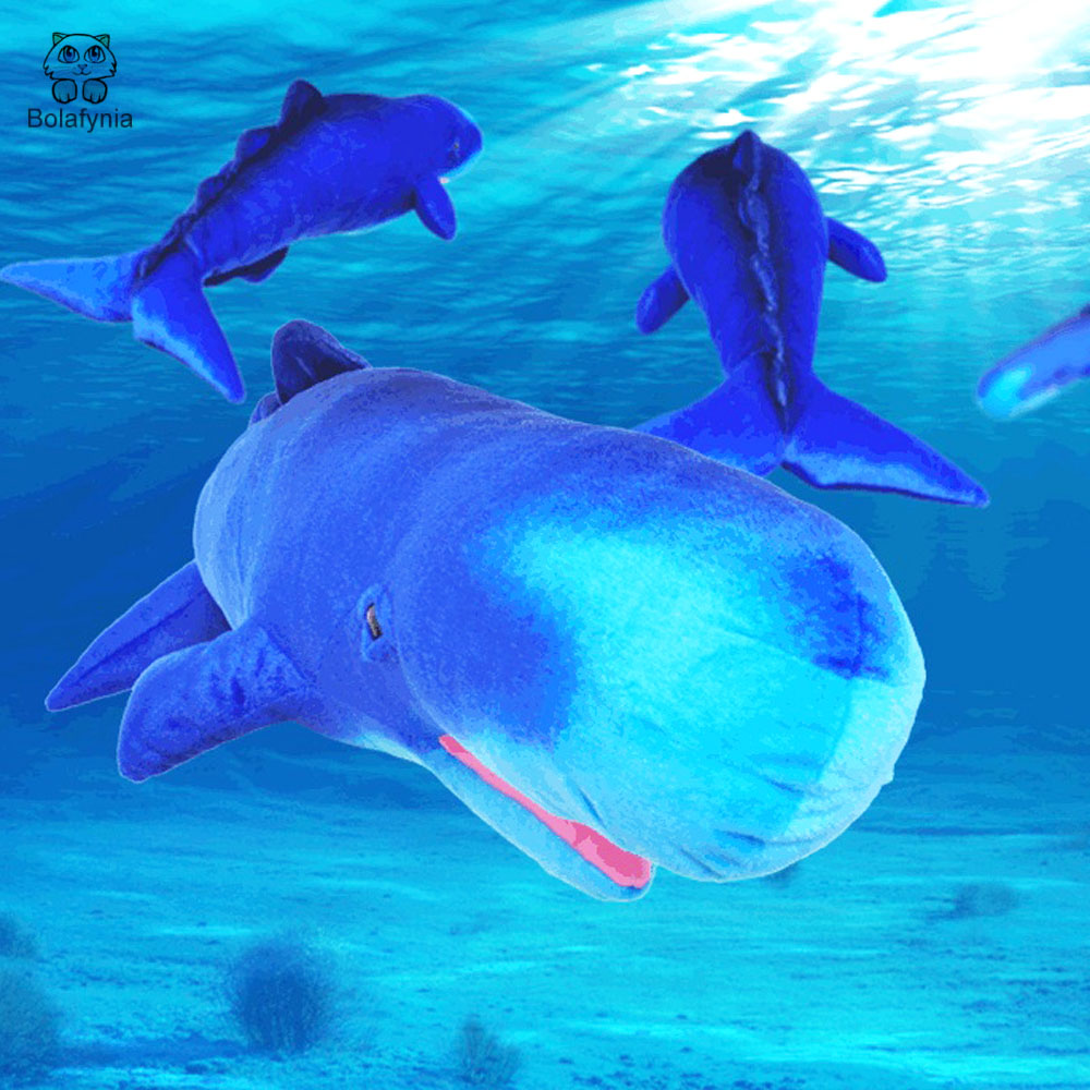 BOLAFYNIA Children Plush Stuffed Toy sperm whale marine simulation animal Baby Kids Toy for Christmas Birthday gift карандаш для век водостойкий 22 1 2 г artdeco