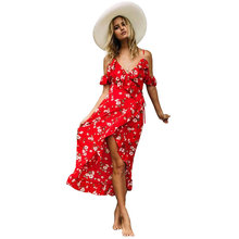 37a8c9386ca2a Floral Spaghetti Wrap Dress Promotion-Shop for Promotional Floral ...