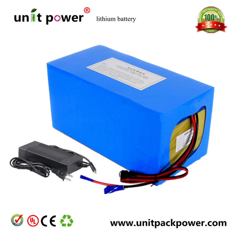 Free customs taxes High quality DIY 48 volt li-ion battery pack with charger and BMS for 48v 15ah lithium battery pack free shipping 50a discharge rate lithium battery 48v 50ah 18650 rechargeable li ion battery pack with 2000w bms and charger