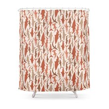 coral and brown shower curtain. Swimming With Sharks In Coral And Brown Shower Curtain Waterproof Bathroom  Polyester Fabric Buy Shower Curtains Brown And Get Free Shipping On AliExpress Com