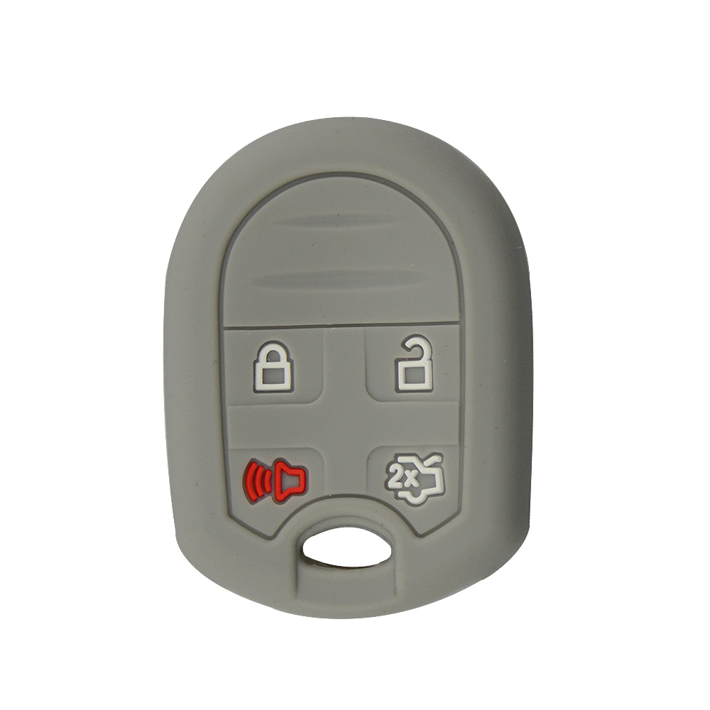 4 buttons silicone car key case for Ford 4