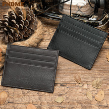 PNDME genuine leather unisex slim casual card pack purse leisure credit card holder card set dropshipping ID Holders