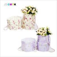 3 unids/set Octogonal floristería regalo de embalaje caja de embalaje ramo de la flor cubo flor, decoración de la boda quanlity muy buena caja