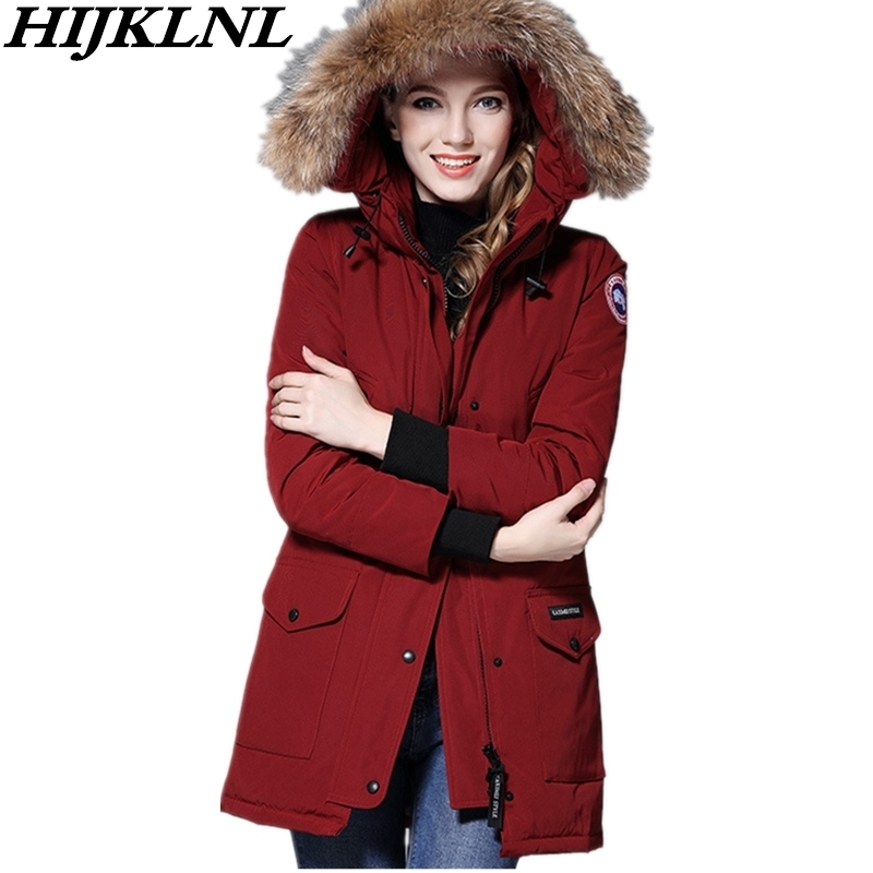 2019 Women Winter   Down     Coat   Loose Large Size Hooded Fur Collar Long   Down   Jacket Women Thicken   Coat   Fashion Warm Outerwear CW101