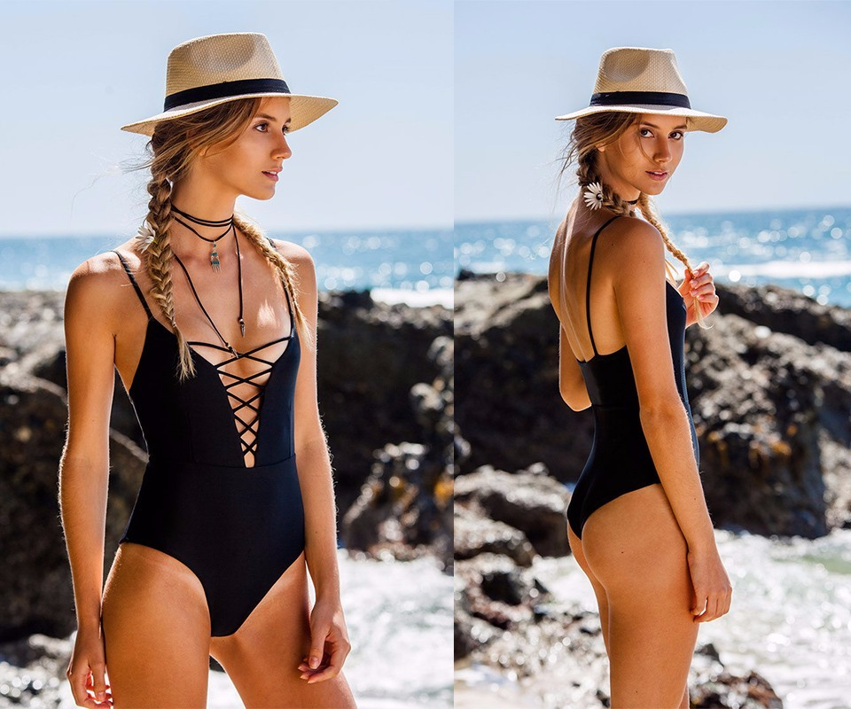 One Piece Swimsuit 2017 Summer Beach Vintage Wear Bandage Monokini Swimsuit Sexy Swimwear Women Bodysuit Bathing Suit Swimsuit 7