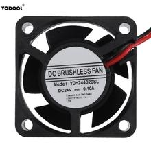VODOOL 5 Blades 2Pin 24V 0.1A Computer PC Waterproof Cooling Fan 40X40X20mm Brushless DC Sleeve Bearing PC Cooler Fan Low Noise