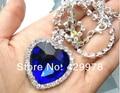 Titanic coração do oceano colar de cristal-prata pingente banhado colares & pingentes colares topshop para 2014 mulheres
