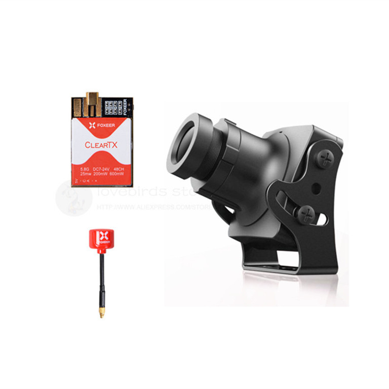 Foxeer FPV combos HS1190 camera +ClearTX 2 5.8G 48 CH VTX + Lollipop 2 antenna MMCX for DIY FPV mini cross racing drone