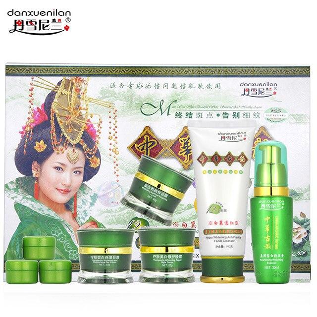 Danxuenilan Spot Removing Blemish Whitening Cream 5pcs/ Set Free Shipping  Whitening Rejuvenation Blemish Cosmetics Set