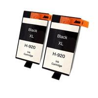 2 X Ink Hp 920 XL 920bk Black Ink Cartridge For HP HP Officejet 6000 6500