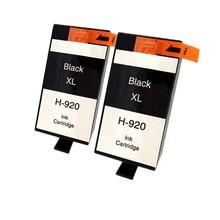 2 x ink hp 920 XL 920bk Black ink cartridge For HP HP Officejet 6000 6500 6500 Wireless 6500A  7000 7500 7500A printer