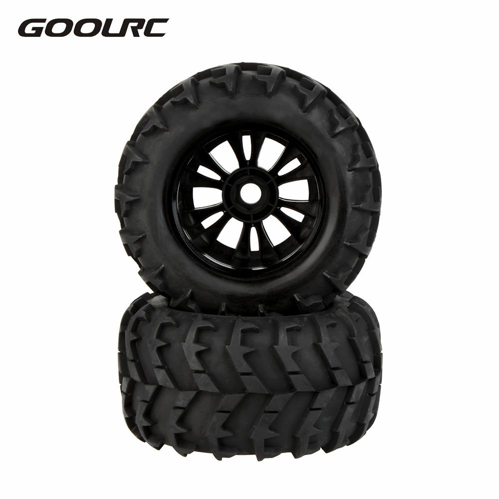 GoolRC 2Pcs 1:8 RC Car Tires Wheel Rim and Tire 810006 for Traxxas HSP Tamiya HPI Kyosho RC Cars Pneu Model Toys Part Accessory 4pcs aluminum alloy 52 26mm tire hub wheel rim for 1 10 rc on road run flat car hsp hpi traxxas tamiya kyosho 1 10 spare parts