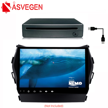 Asvegen Android Car Radio GPS Navigation Multimedia Portable Universal External 1Din Digital DVD CD Vedio Player System Box image