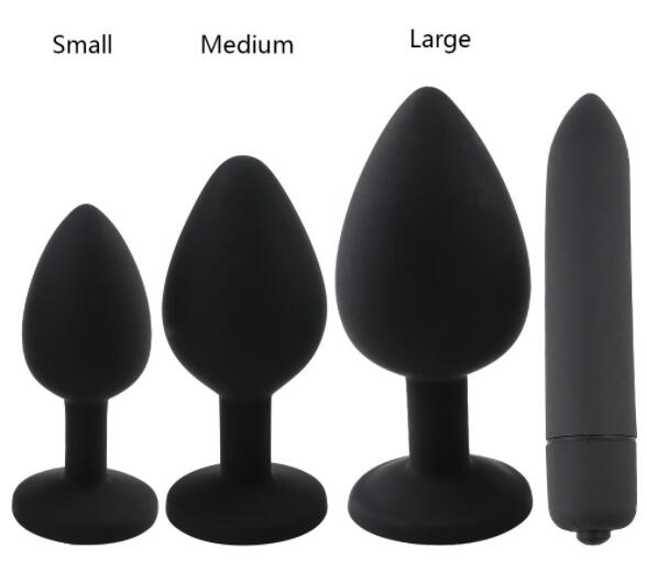 Sex Shop Crystal Jewelry Butt Plug Massager Silicone Dildo Vibrator Anal Plug Gay Sex Toy