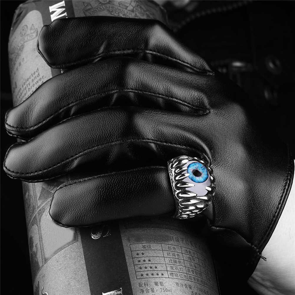 גברים של גותי עין רעה כדור עיצוב קסם טבעת פאנק אצבע מתנת תכשיטי נירוסטה טבעות גברים תכשיטים חדש הגעה