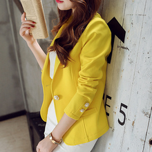 Fashion Spring summer Women Slim Suit Blazer Coat Female Cas