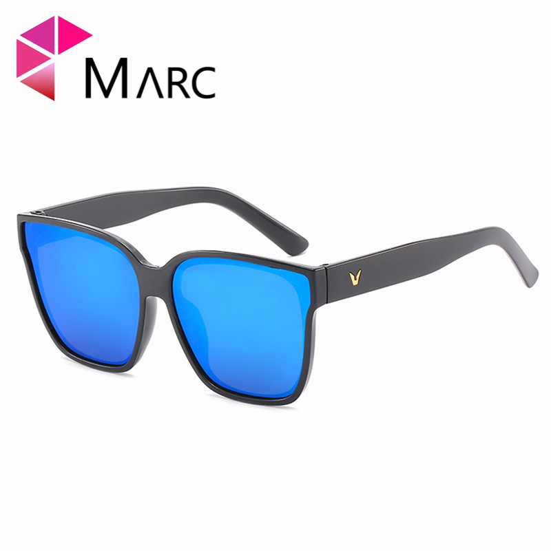 MARC Fashion Sunglasses Men Driving UV400 Sun Glasses For Women Brand Designer Cat eye High Quality Pink Mirror Eyewear Male