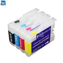 Перезаправляемый чернильный картридж для принтера brother LC51 LC37 LC57 LC970 lc1000 DCP-130C 135C 150C DCP-330C DCP-350C