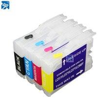 Бесплатная доставка перезаправляемый чернильный картридж для принтера brother LC51 LC37 LC57 LC970 lc1000 DCP-130C 135C 150C DCP-330C DCP-350C